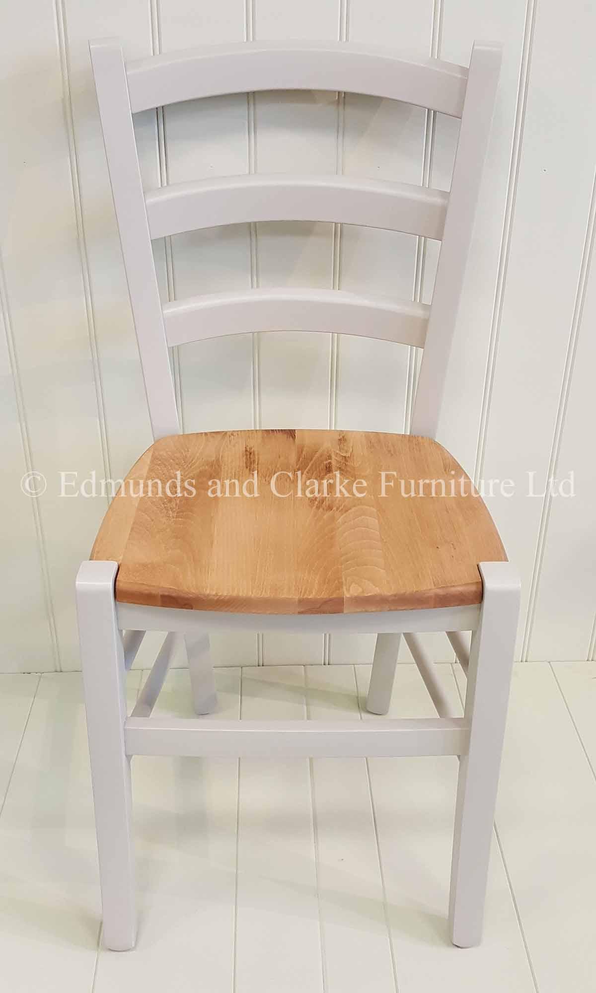 Painted liege dining chair lightweight