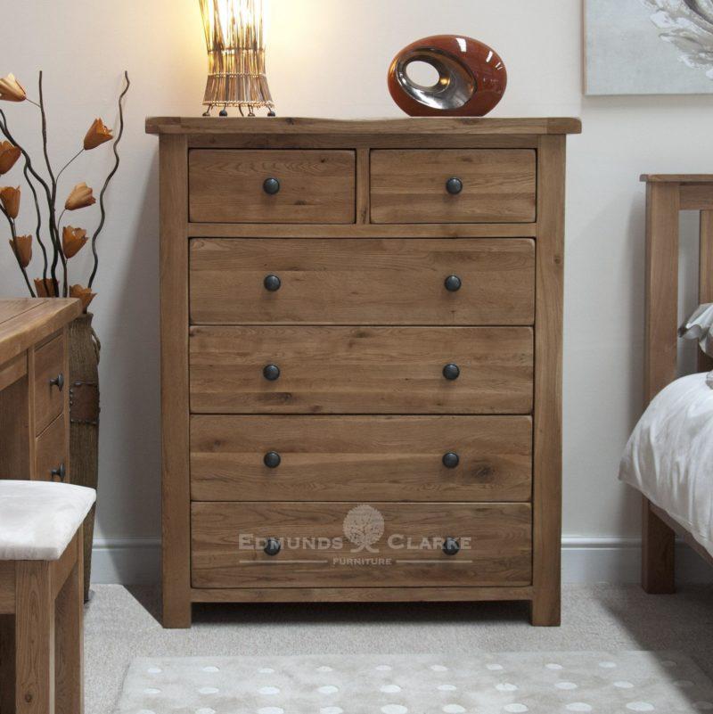 Lavenham Oak 2 Over 4 Drawer Chest Edmunds And Clarke Furniture