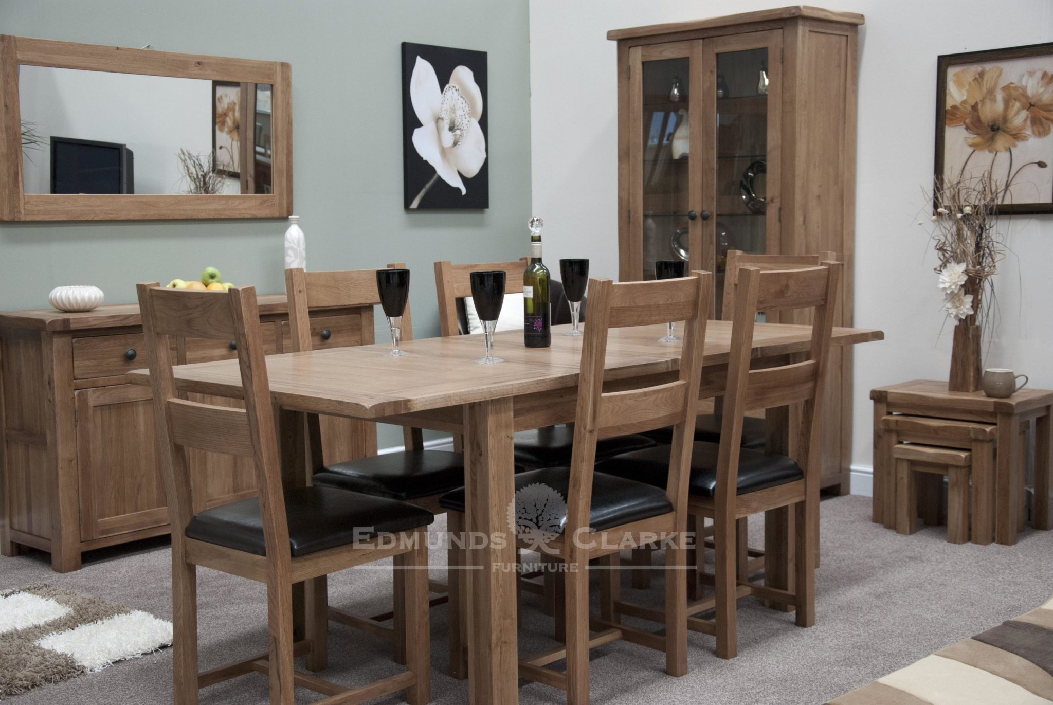 Lavenham rustic oak dining set