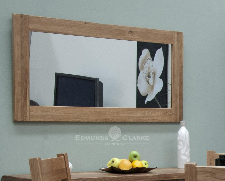 lavenham rustic oak large mirror