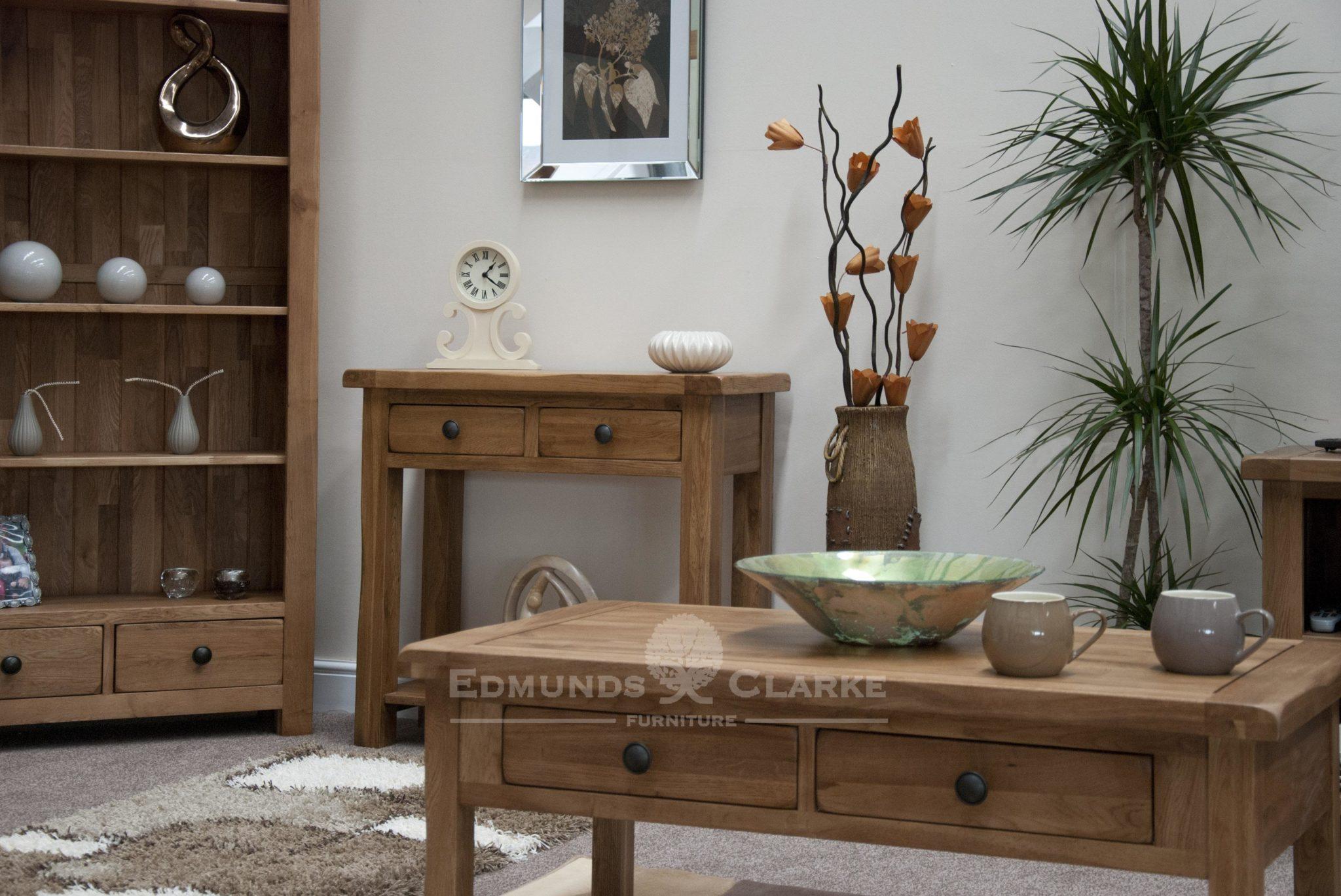 rustic oak lavenham living room set