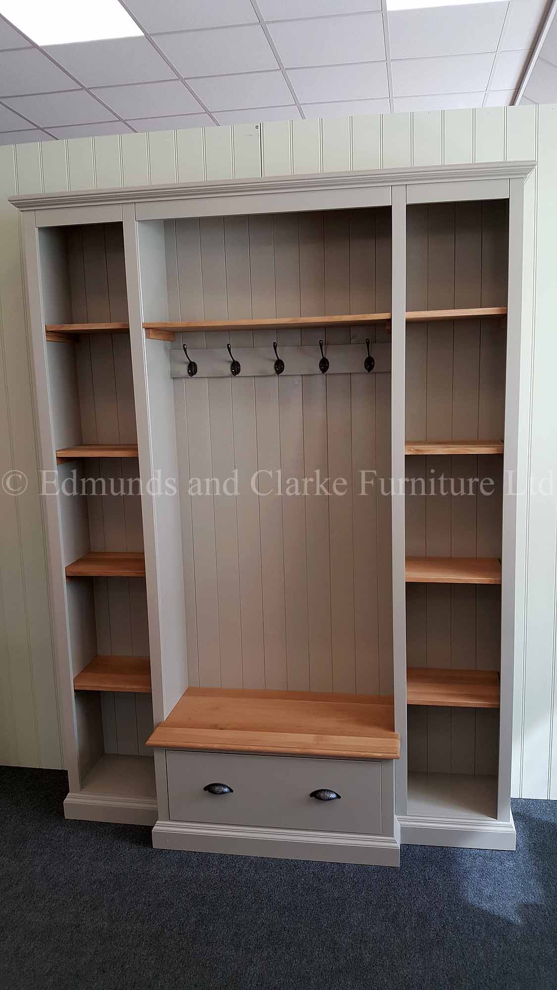 Bespoke made to measure hallway storage