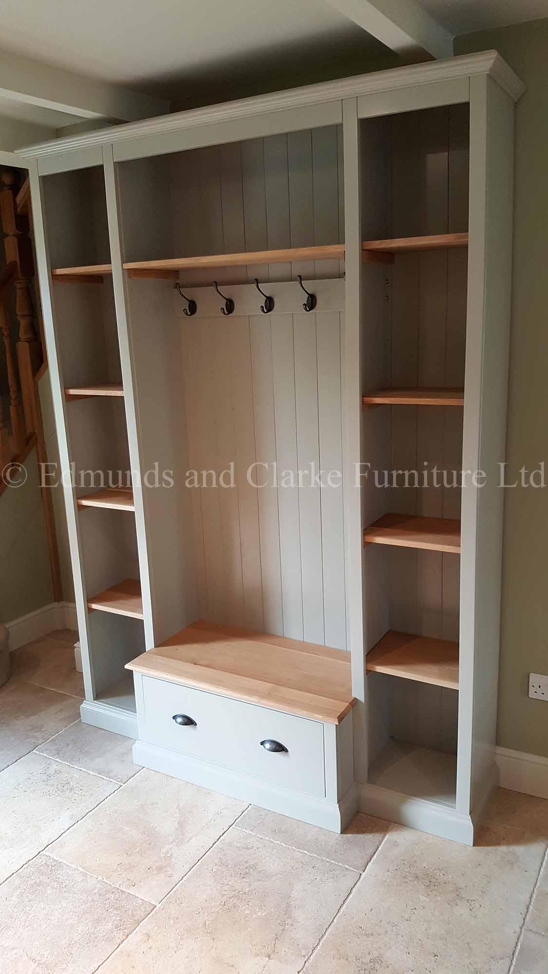 Foyer Storage Xbox One : Bespoke hallway storage unit edmunds clarke furniture ltd
