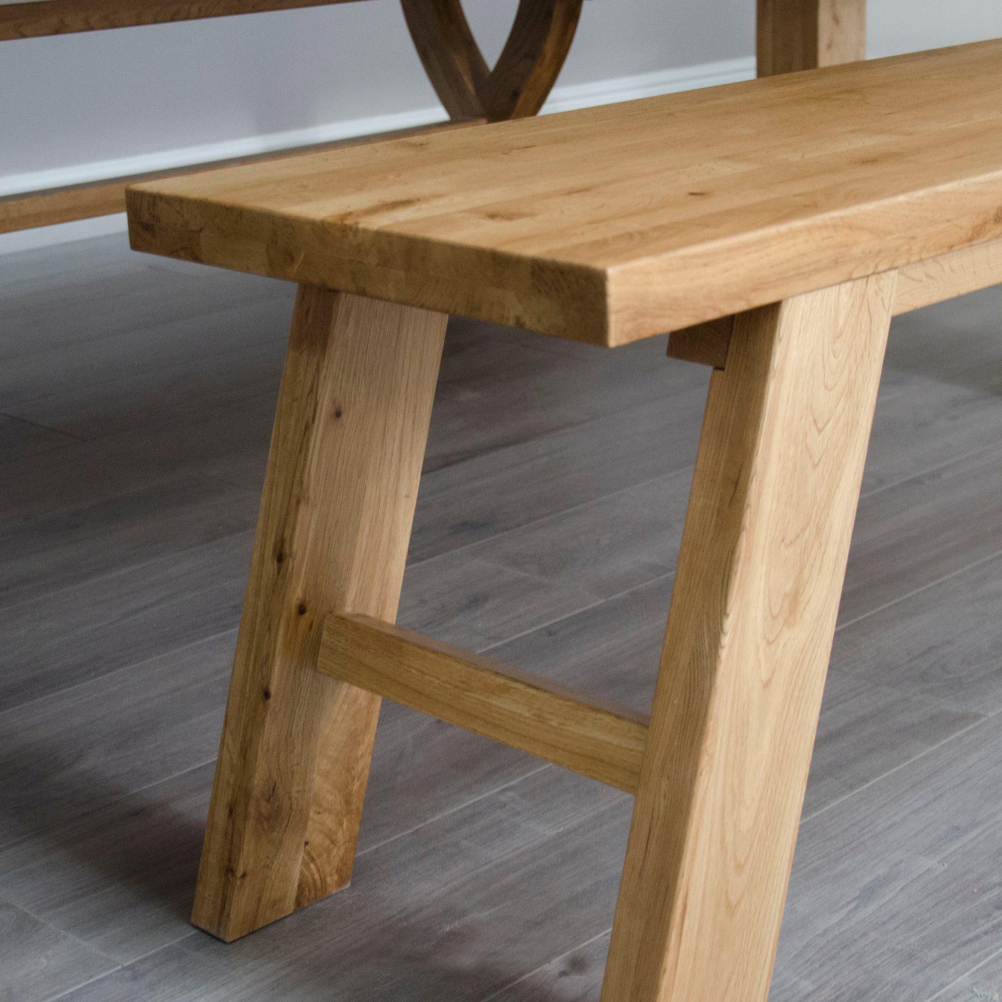 Melford oak slatted style bench