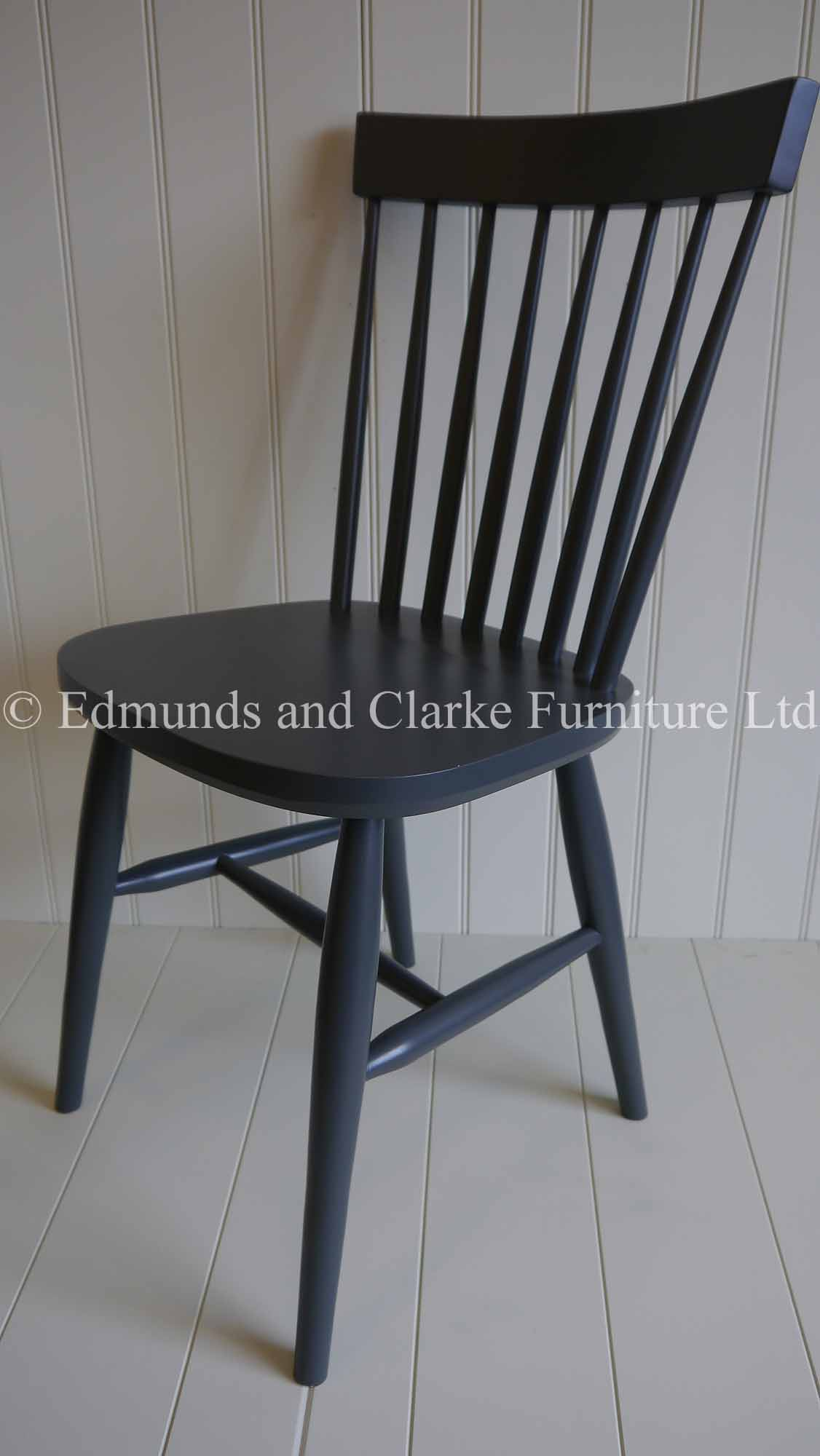 Edmunds Nordic style dining Chair. image shows custom painted chair in Farrow and ball. no fixed seat pad available