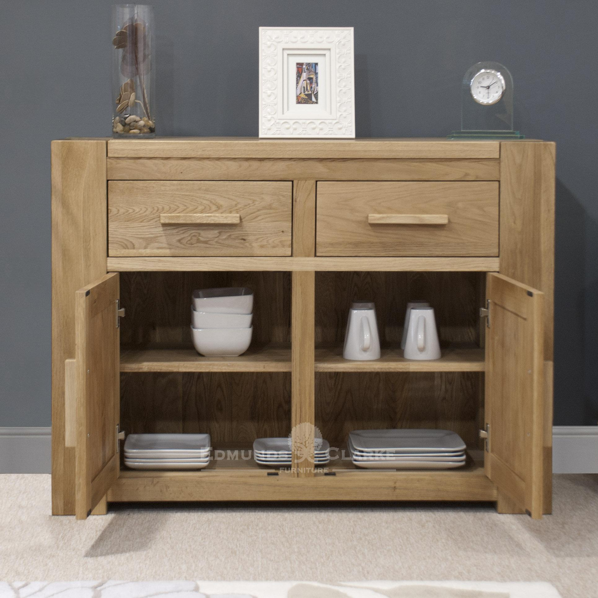 Newmarket solid oak two door two drawer sideboard