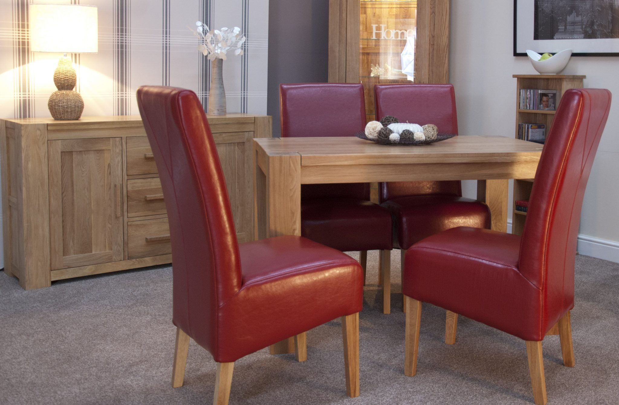 Newmarket square edge small dinning table square legs