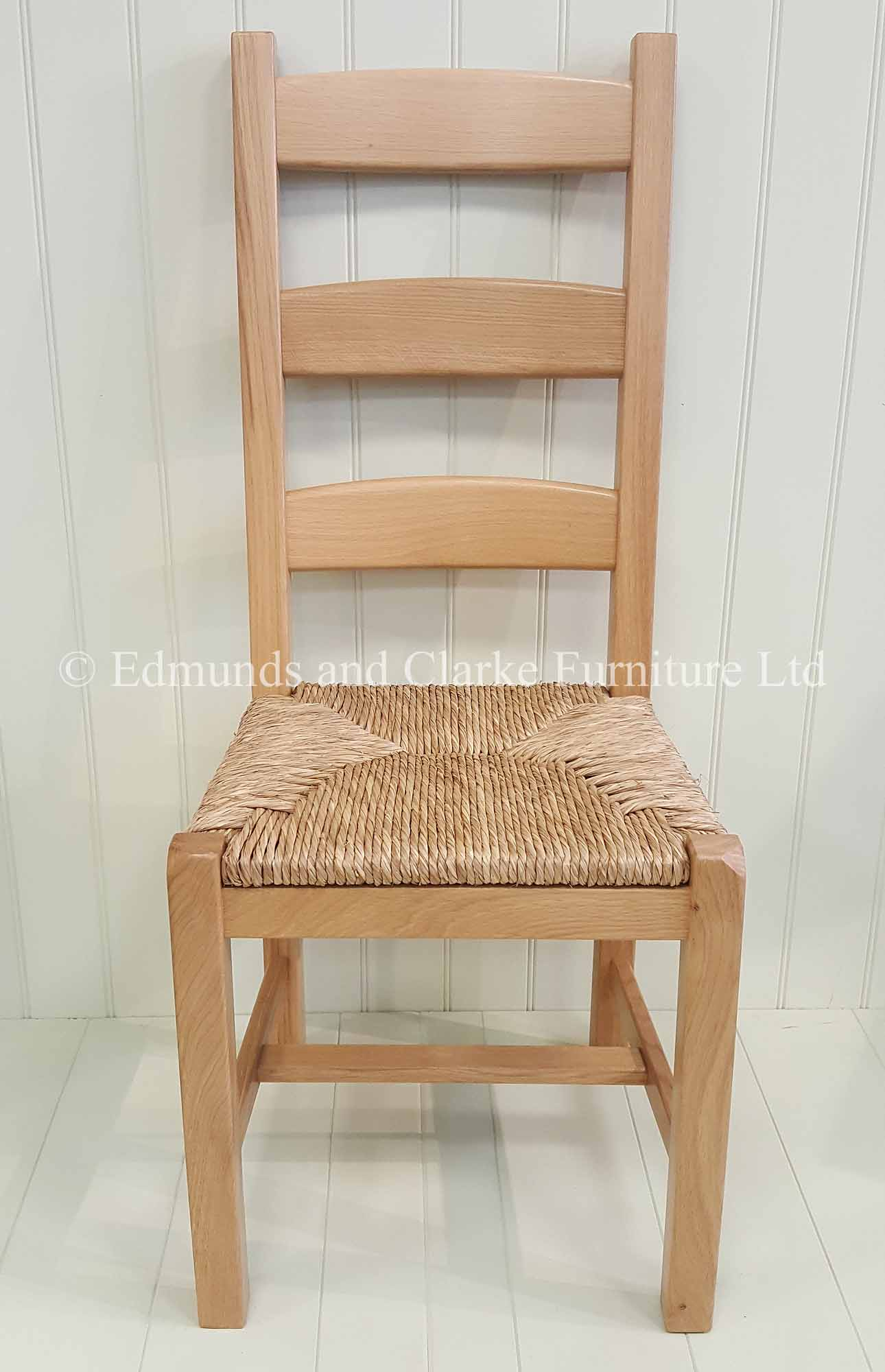 Provence solid oak dining chair with rush seats