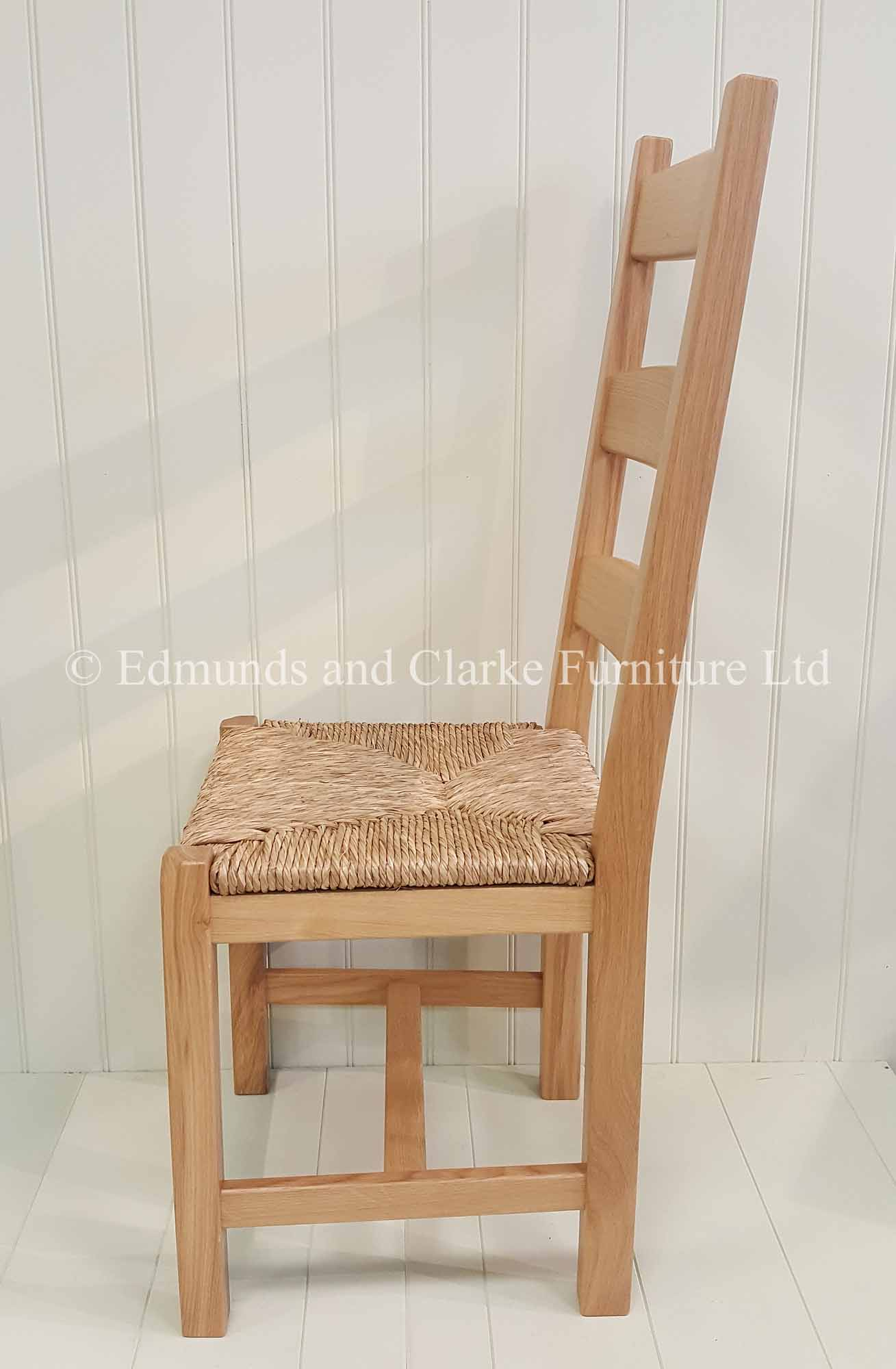provence oak chair with rush seats