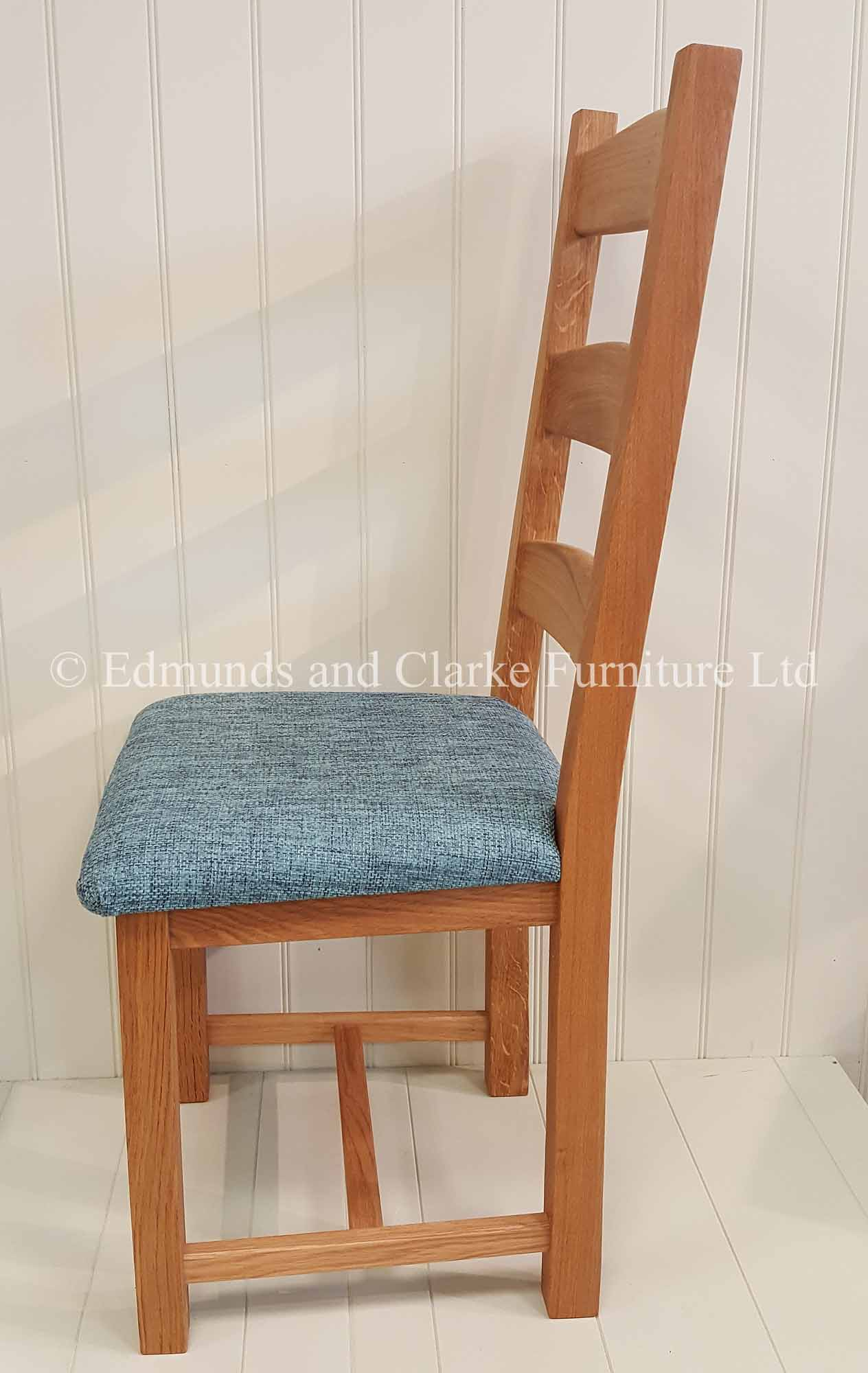 Provence oak dining chair, choice of leather or fabric seat pads
