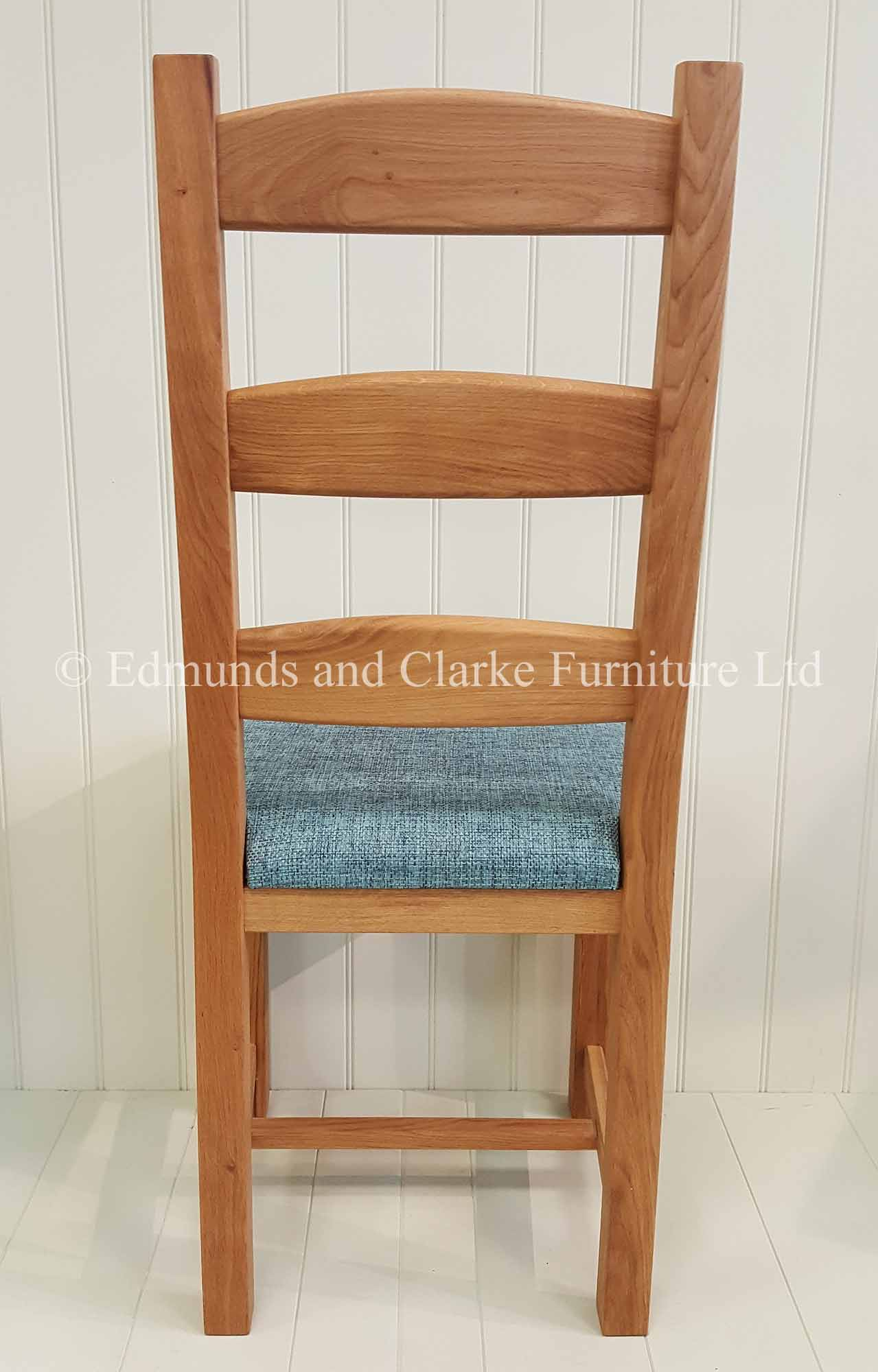 Provence solid oak chair oiled or lacquered with fabric or leather seat pads