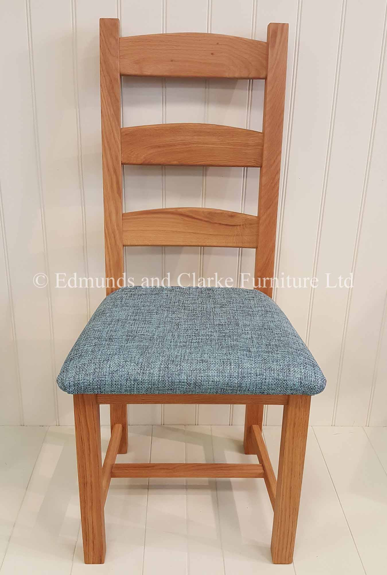 Oak provence chair with a choice of fabric or leather seats