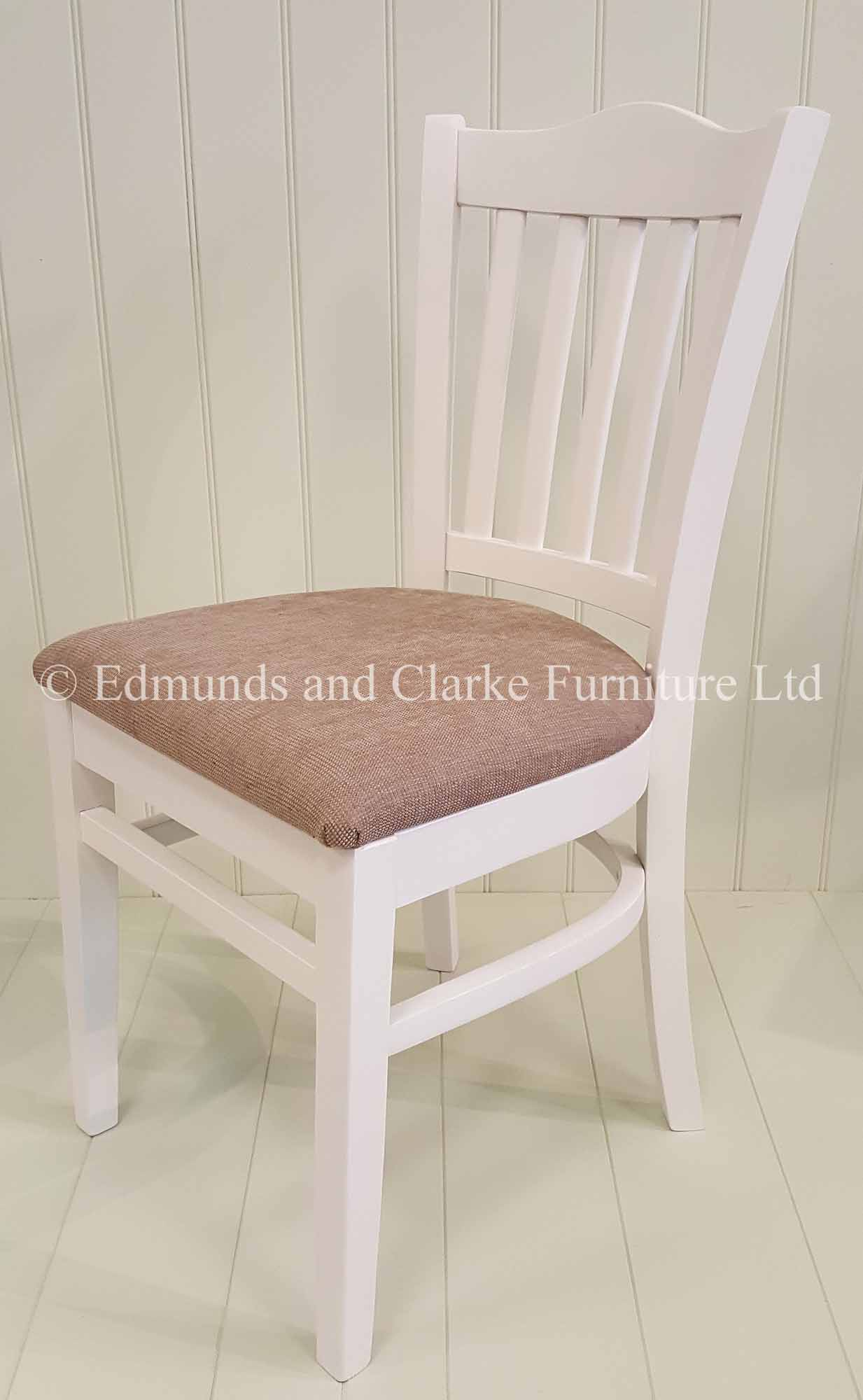 Stamford dining chair painted with choice of seat pads
