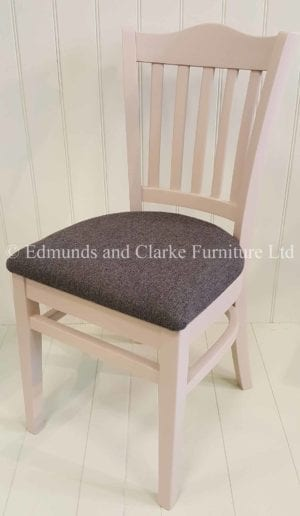 Edmunds Stamford Dining Chair. painted with seat pad. Various seat pads available