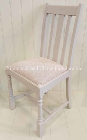 Edmunds Tudor Dining Chair. Painted all over. A seat pad must be chosen with this chair. over 100 fabrics available