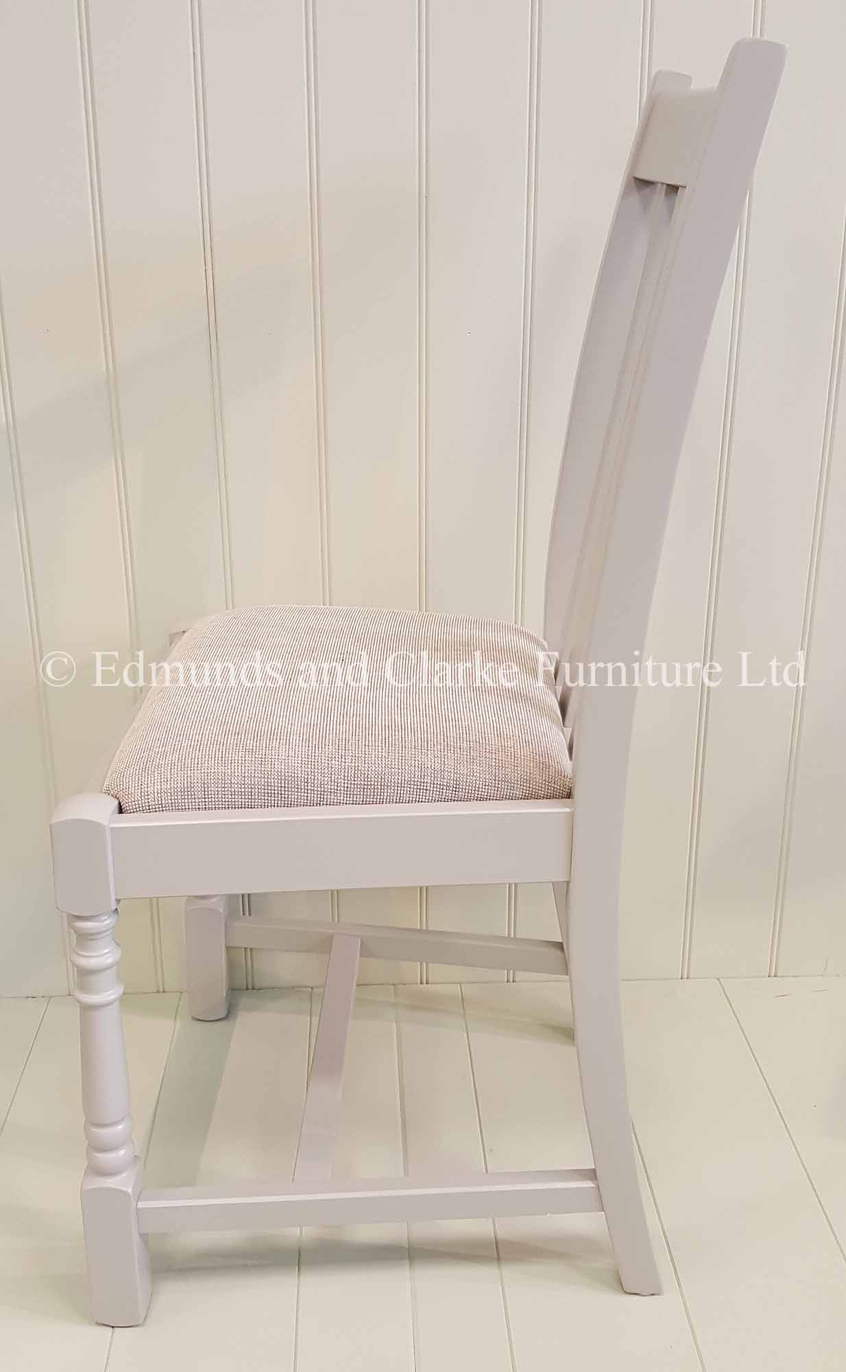 Tudor painted dining chair two front legs turned