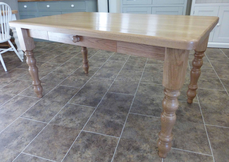 5' x 3' solid oak farmhouse table oiled finish