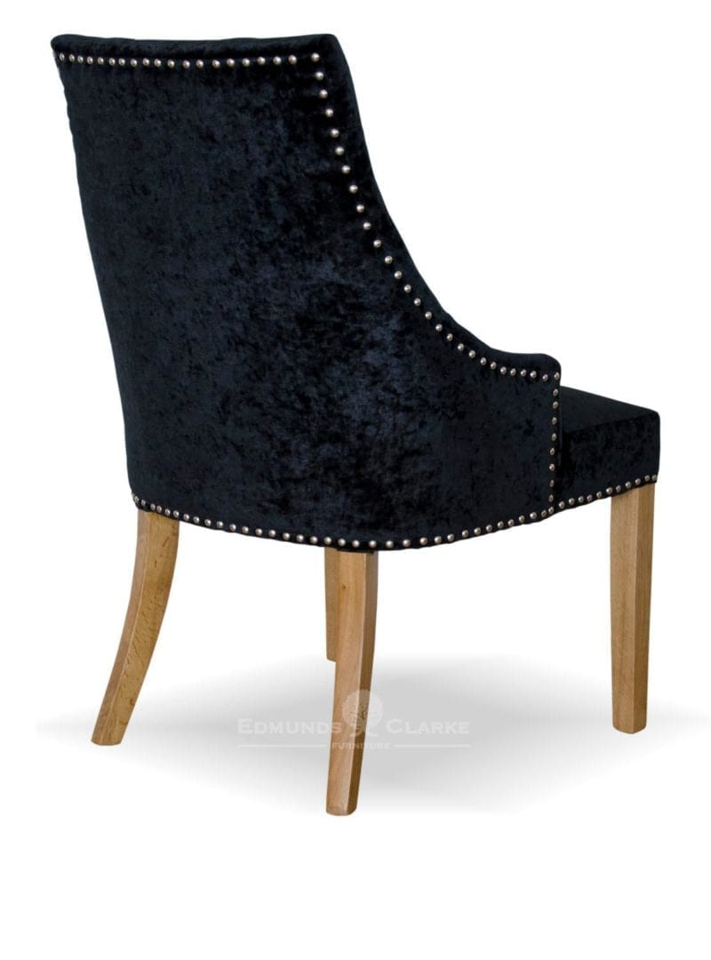 Bergen Black Crushed Velvet Dining Chair Edmunds Amp Clarke Furniture