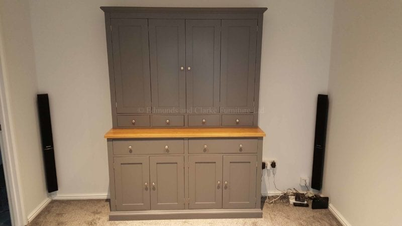 made to measure television entertainment cupboard, made with bifold doors