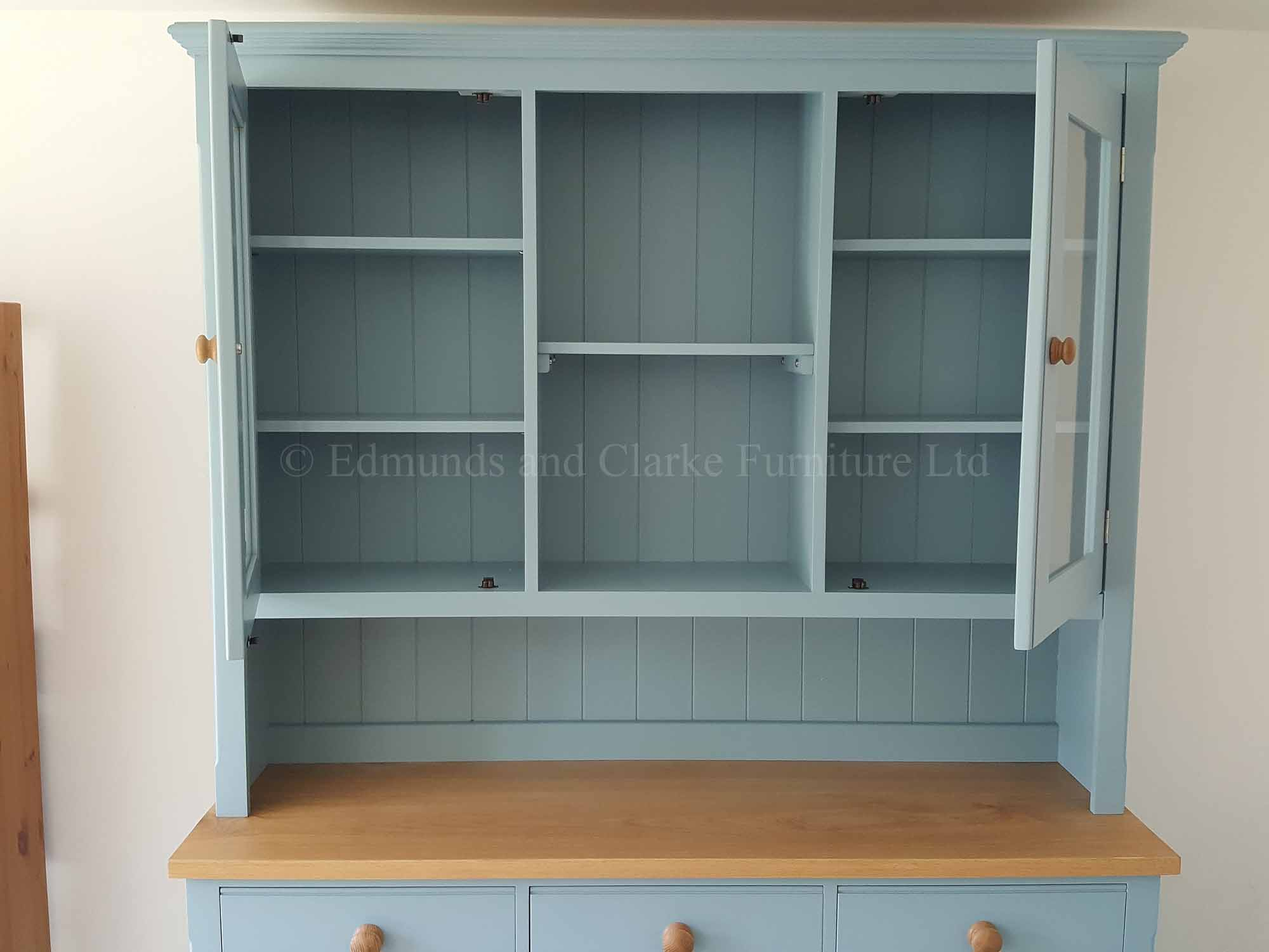 EDM059 Edmunds Painted 5' Open Hutch Half Glazed Dresser (2)