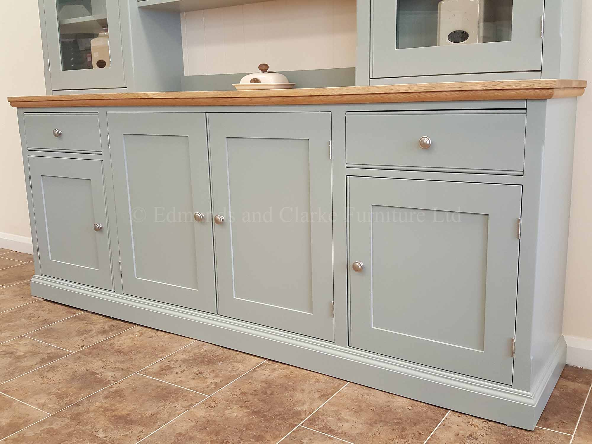 7 feet kitchen dresser painted with choice of oak tops