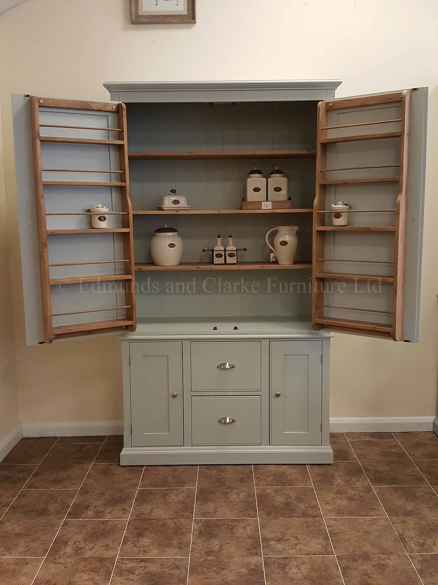 Larder style pantry cupboard painted in a choice of colours