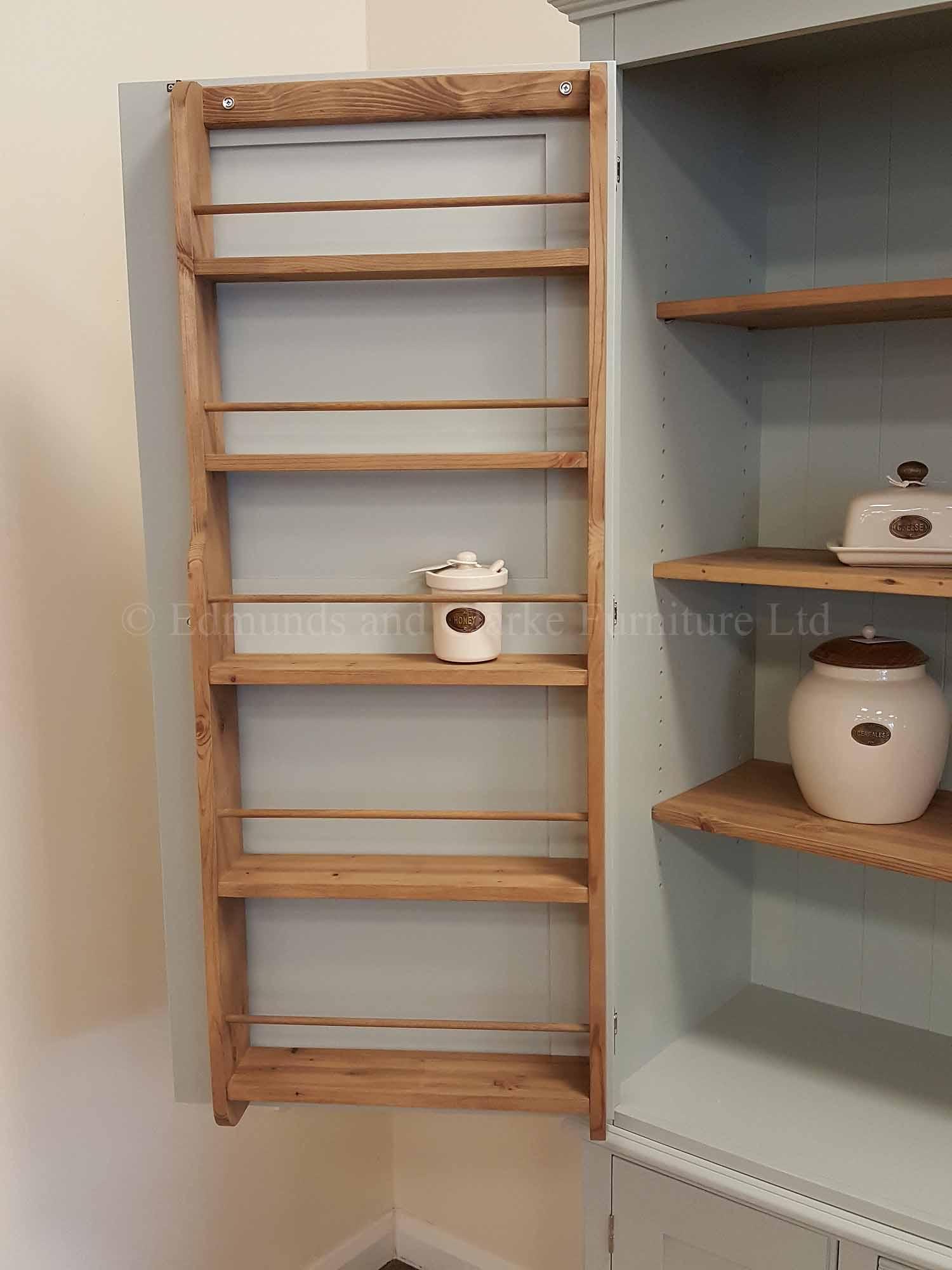 Spice racks inside our Larder cupboard