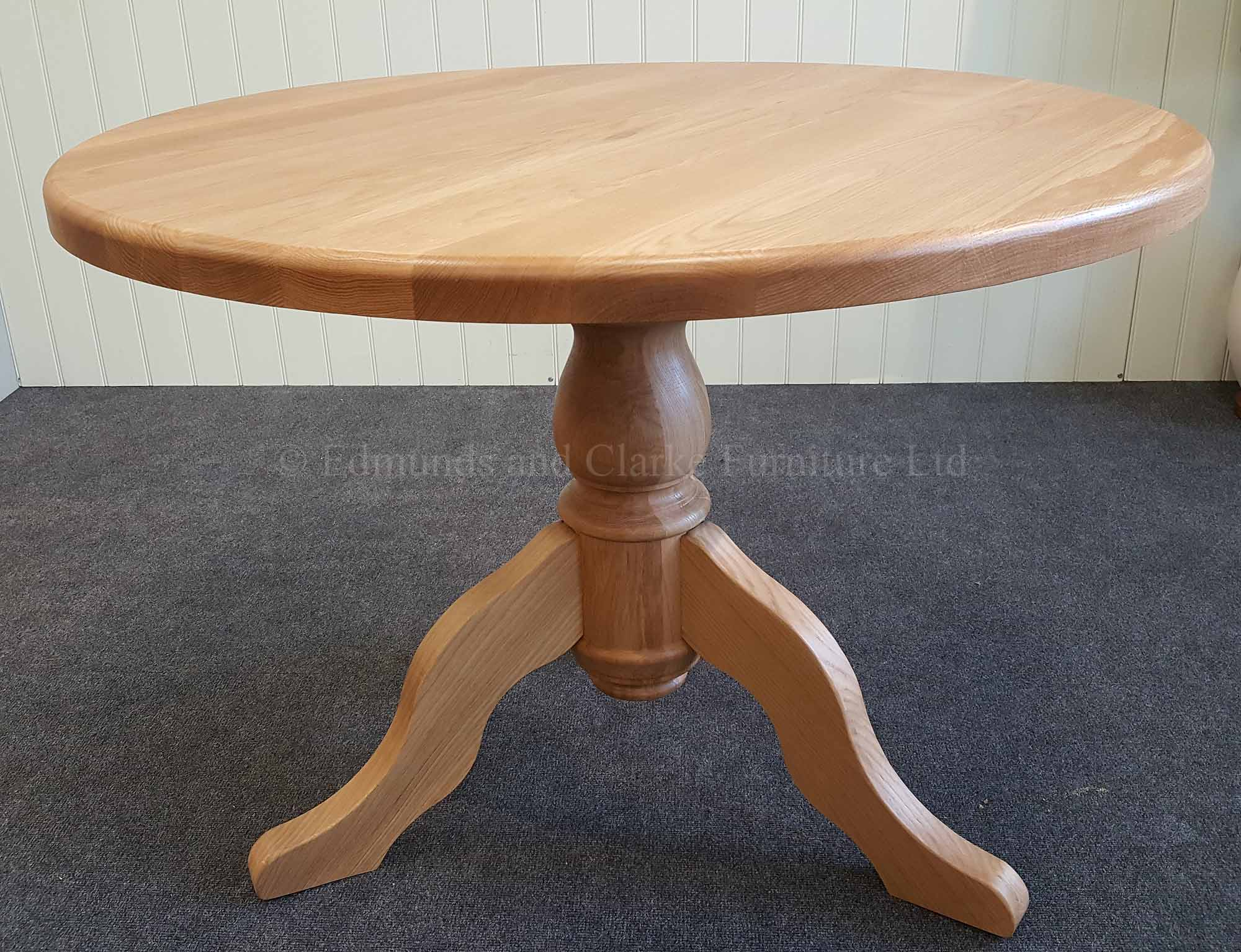 90cm circular round oak dining table