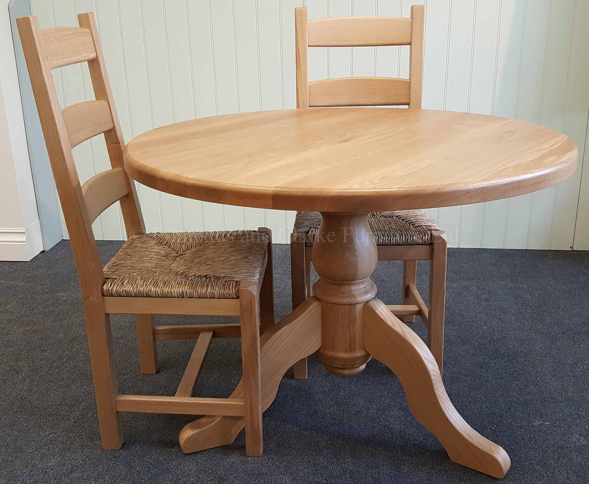 Edmunds Solid Oak Round Table Edmunds Clarke Furniture