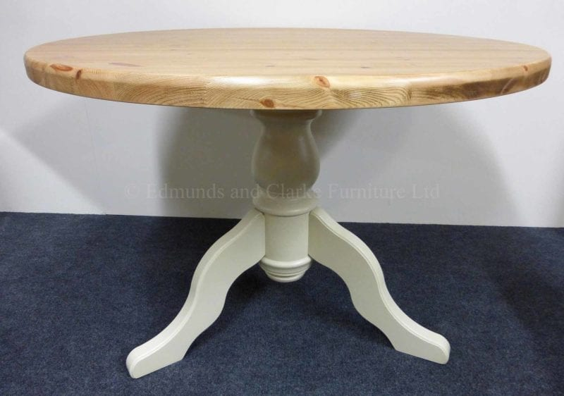 Edmunds Painted Round Table Pine Top Edmunds Clarke Ltd - Painted round end table