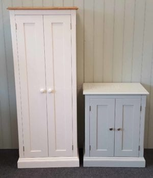 edmunds painted 2 door cupboards deep depth at 45cm. various options available such as pine. oak or painted tops. various handle options only at edmunds clarke bury st edmunds