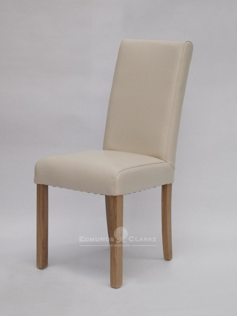 Marianna Ivory Bycast Leather Dining Chair Edmunds