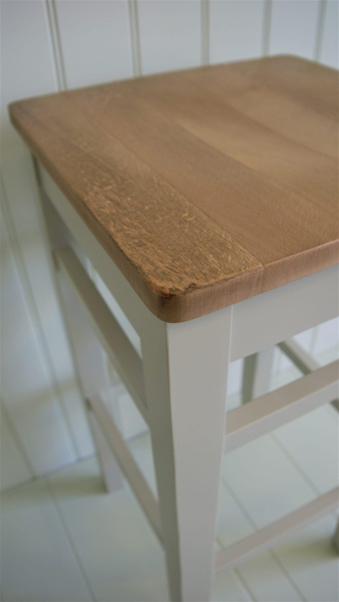 Shaker style square edge painted clarke stool