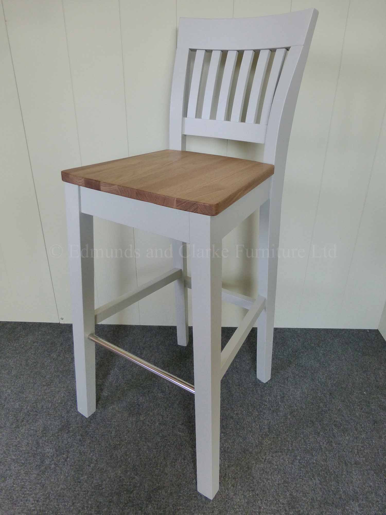 Grey painted linden high breakfast bar stool