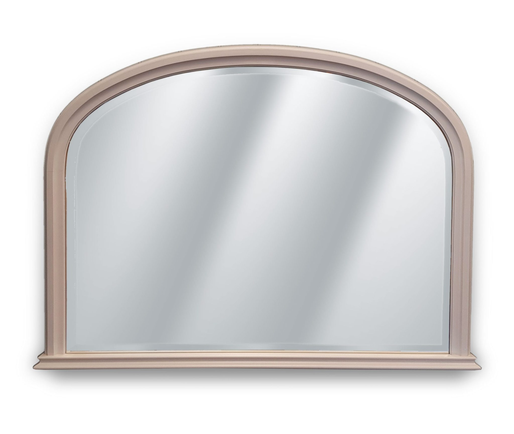 Painted Overmantle mirror, white frame