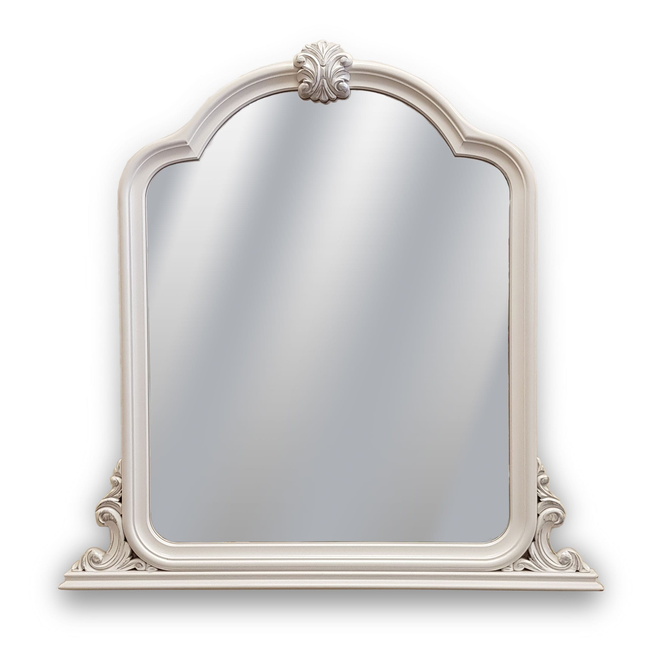 Painted Crested Wall mirror.