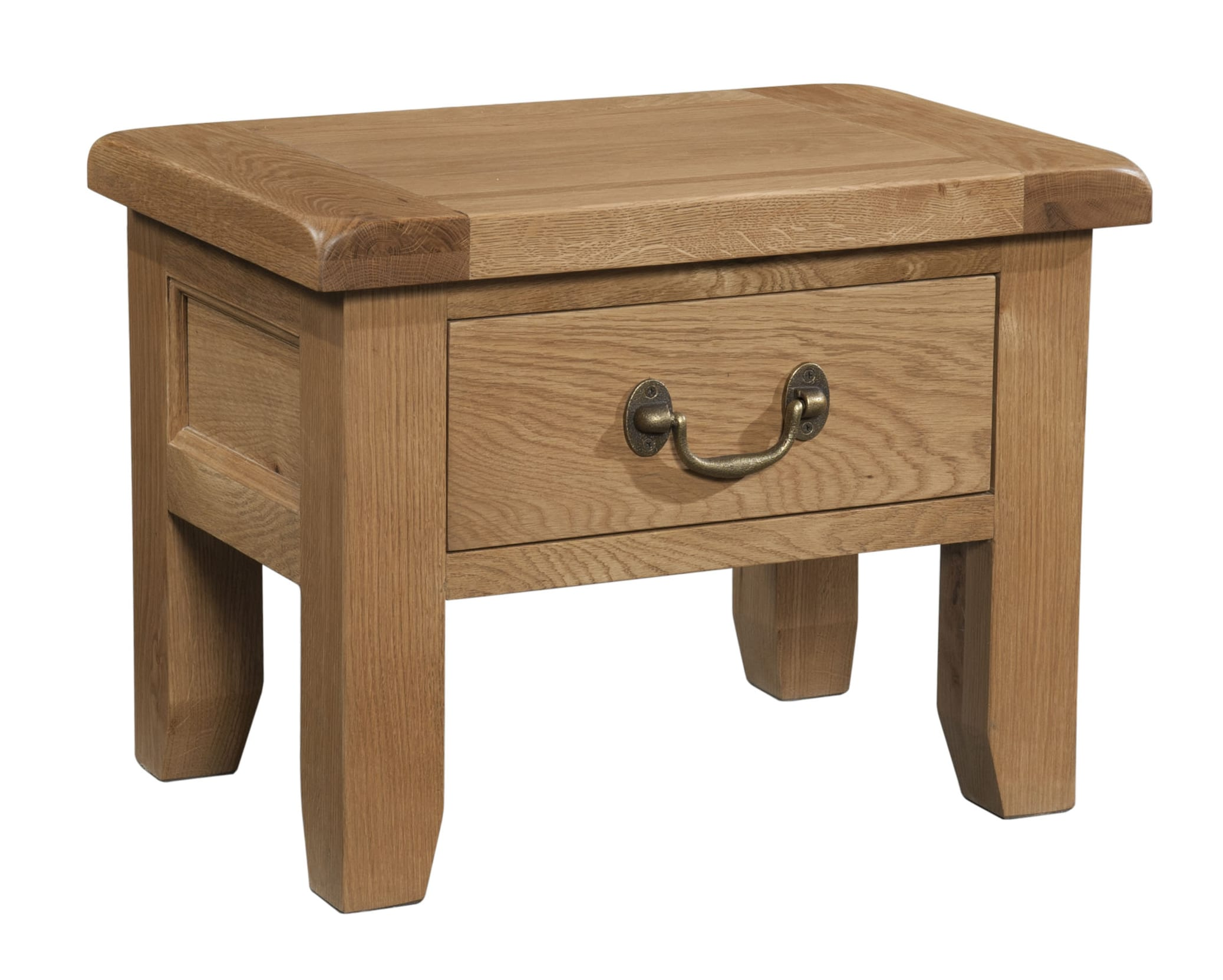 SOM006 Somerset oak side table with drawer