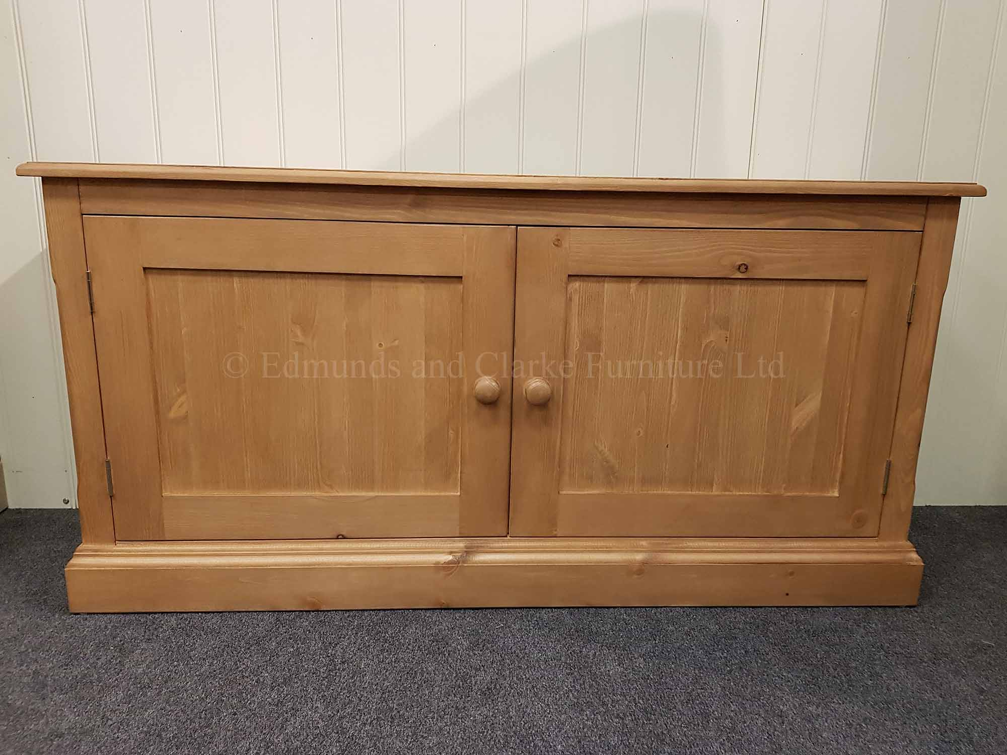 Edmunds waxed cupboard long low 2 door