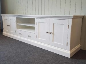 Edmunds painted 7ft Wide tv media unit . various colours. handles