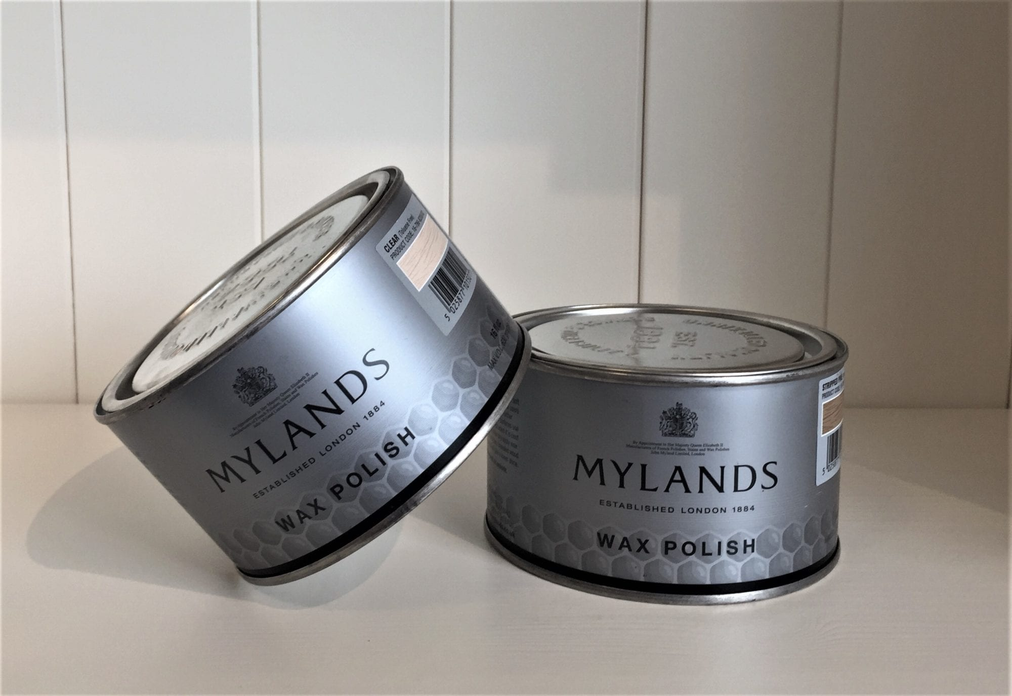 Mylands wax polish, stripped pine and clear