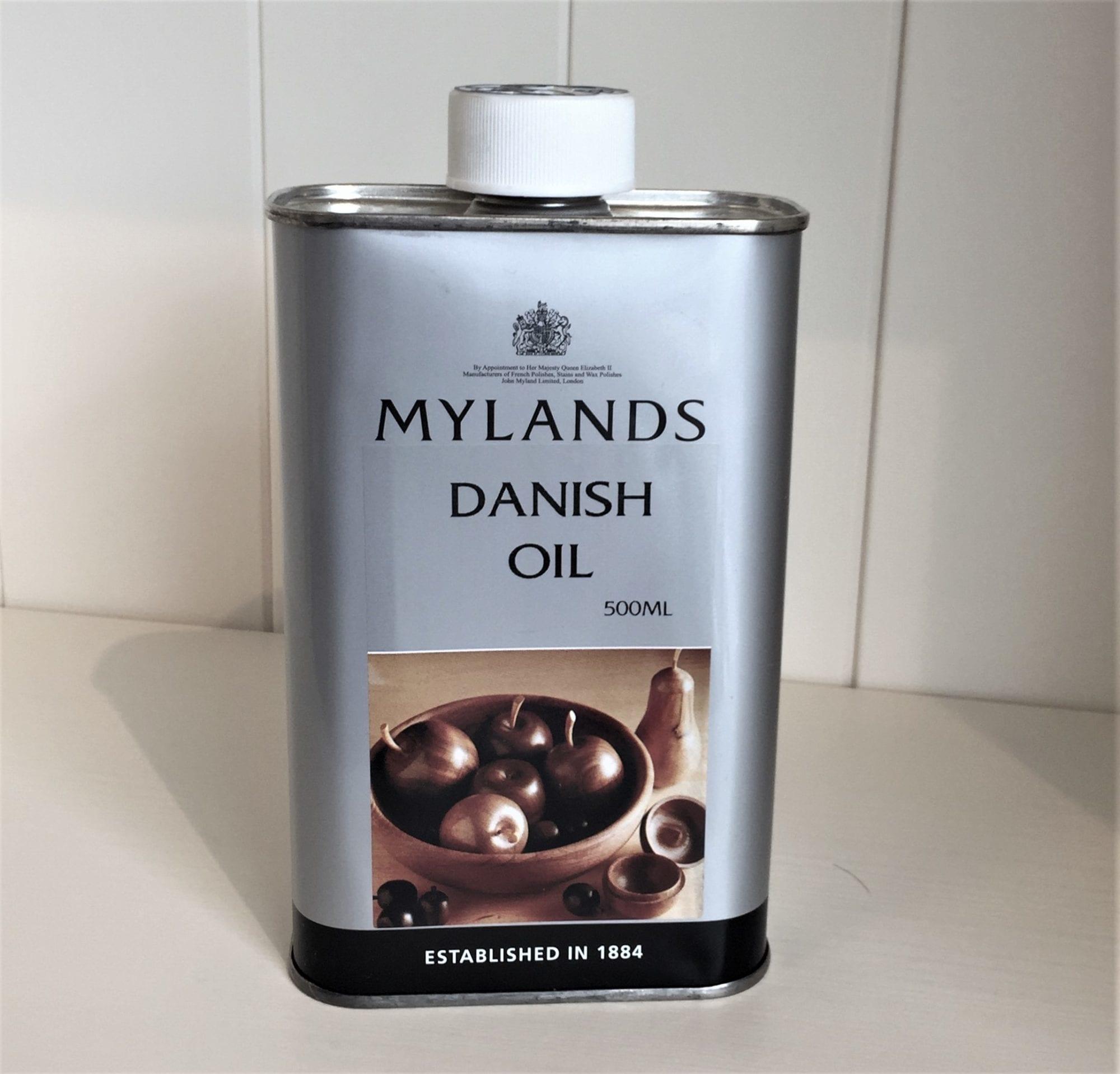 Tin of Mylands Danish Oil 500ml