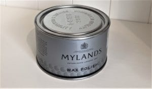 Tin of Mylands Clear Wax Polish