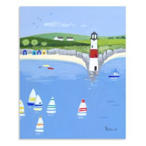 Art marketing lookout point small seaside canvas AC1436