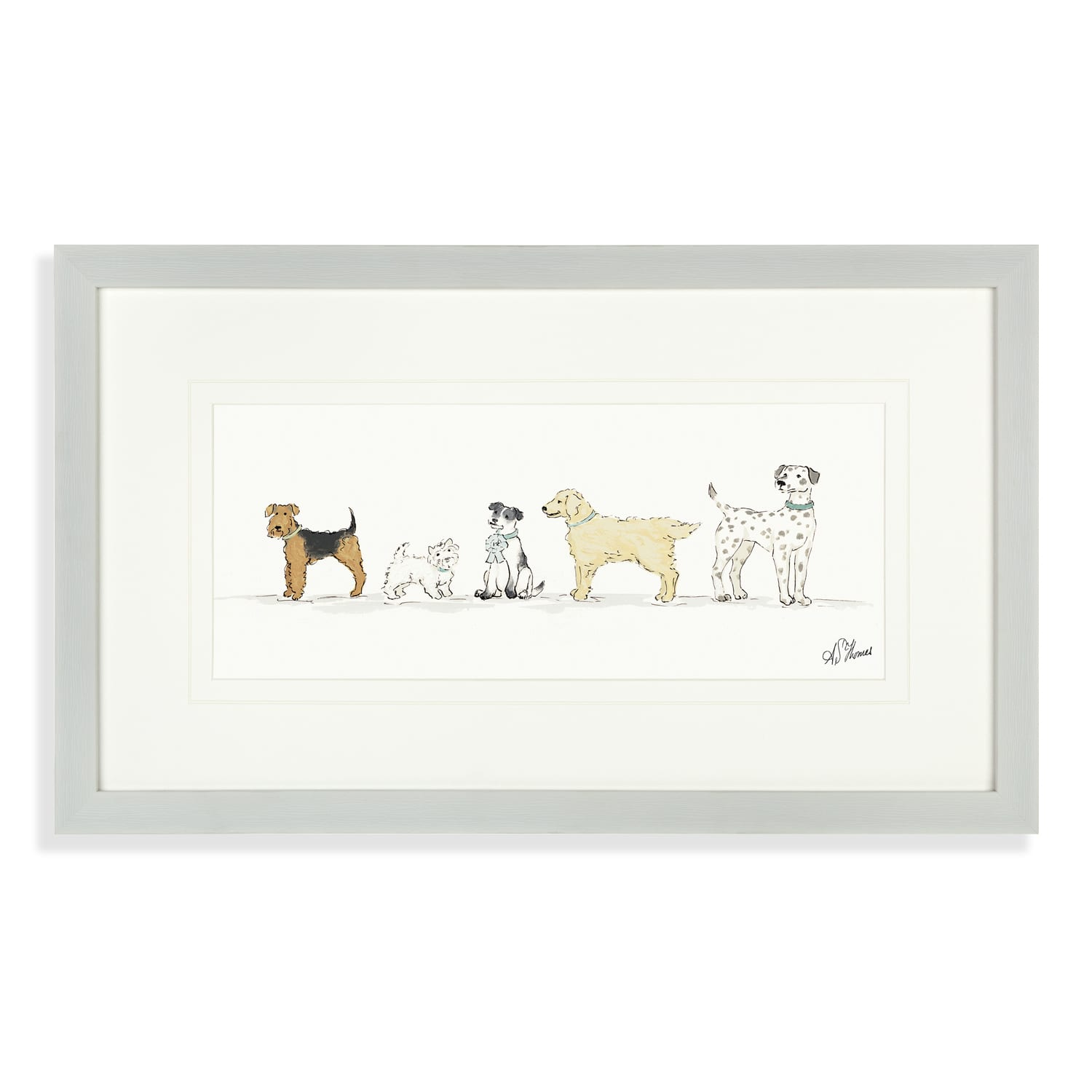 AF3712 Art Marketing Wags and Bows Picture Framed Artwork