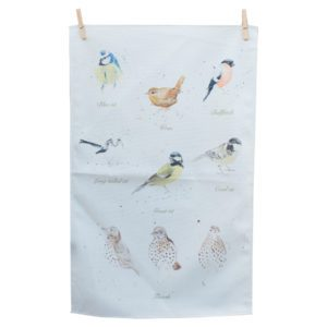 bella art Garden birds t-towel