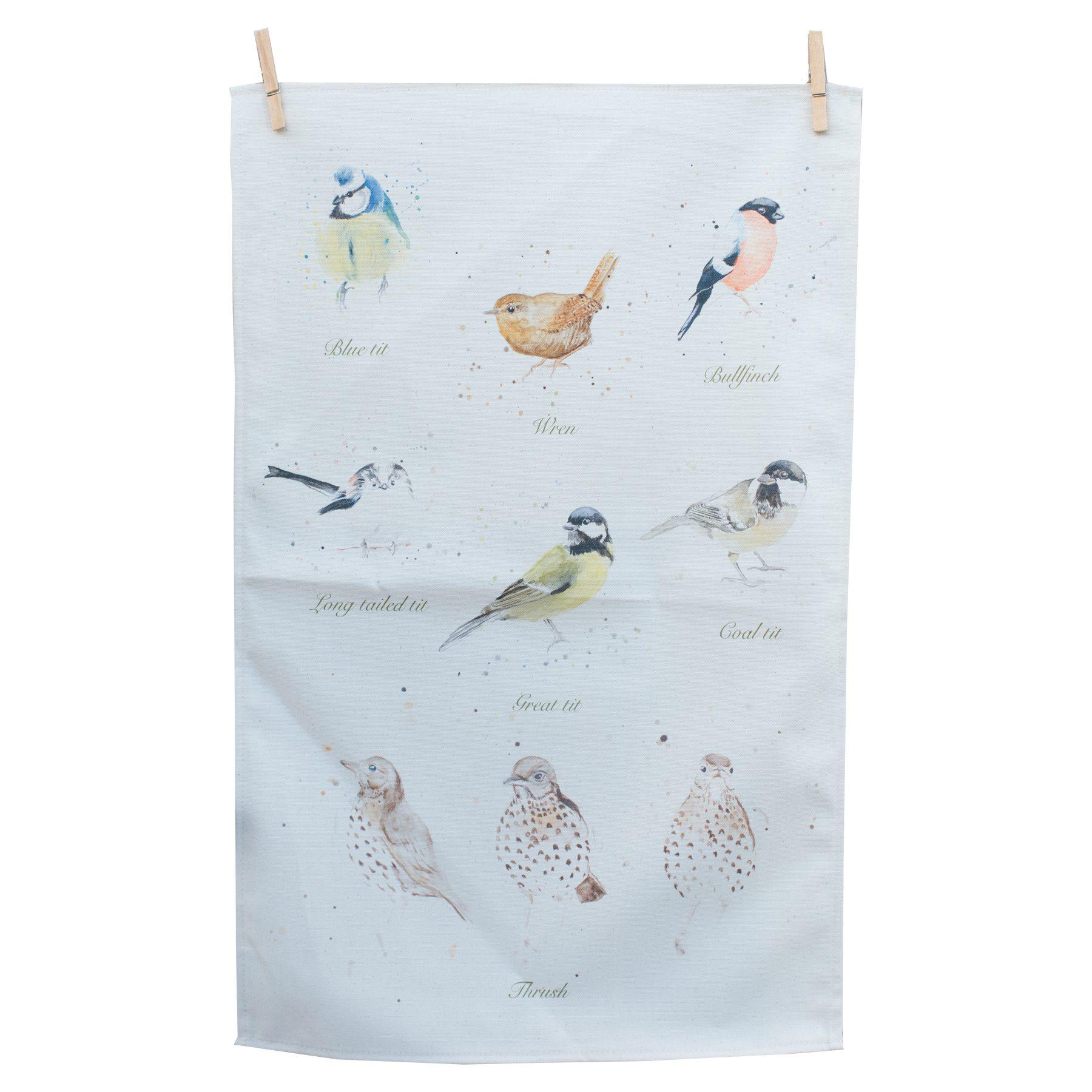 bella art Garden birds t-towel