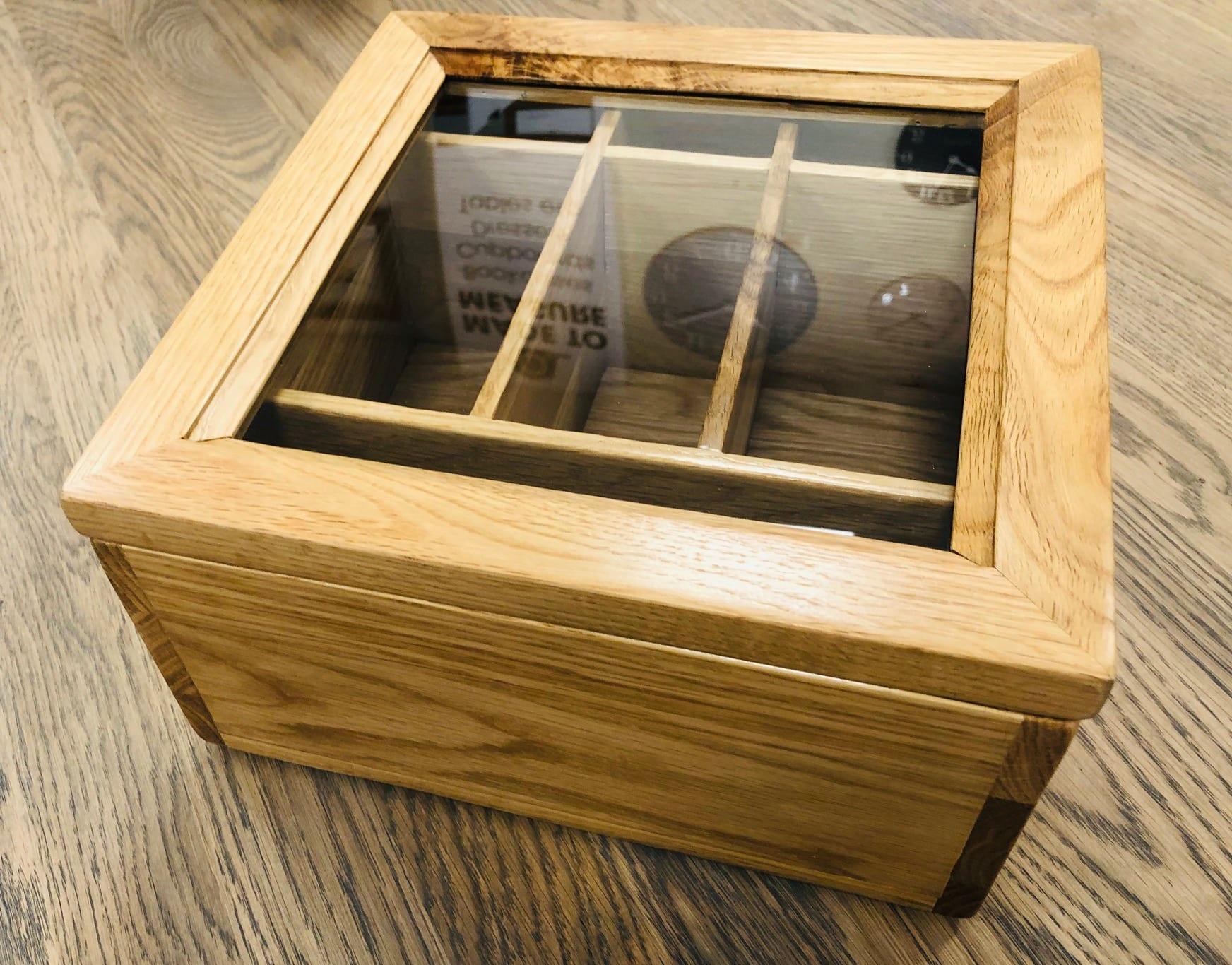 Besp-oak LER002 Wooden box with glass lid 3