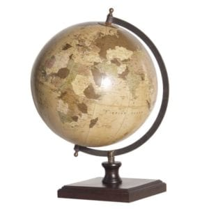 DP004 Wortld globe on wooden base