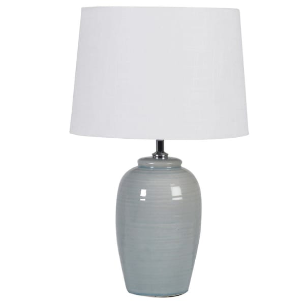 FLM005 Pale green table lamp with shade