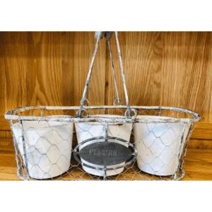 Fleur wire basket